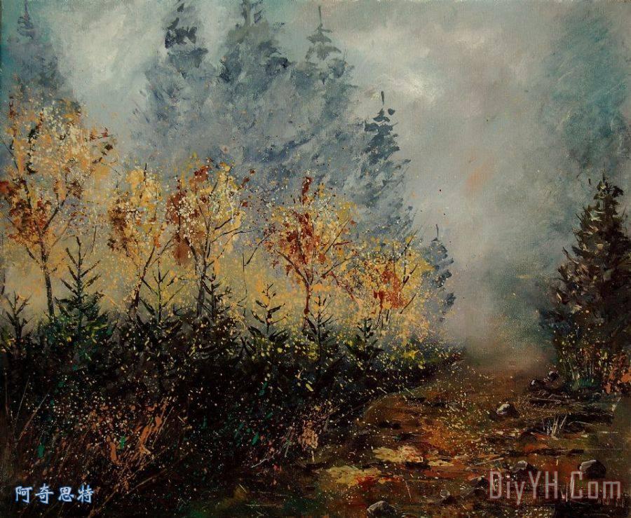 秋天的风景装饰画 印象派 秋天的风景油画定制 阿奇思特