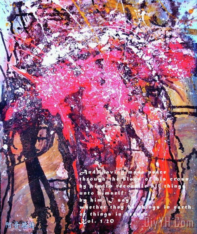 耶稣基督 十字架 被钉2油画定制 阿奇思特图片