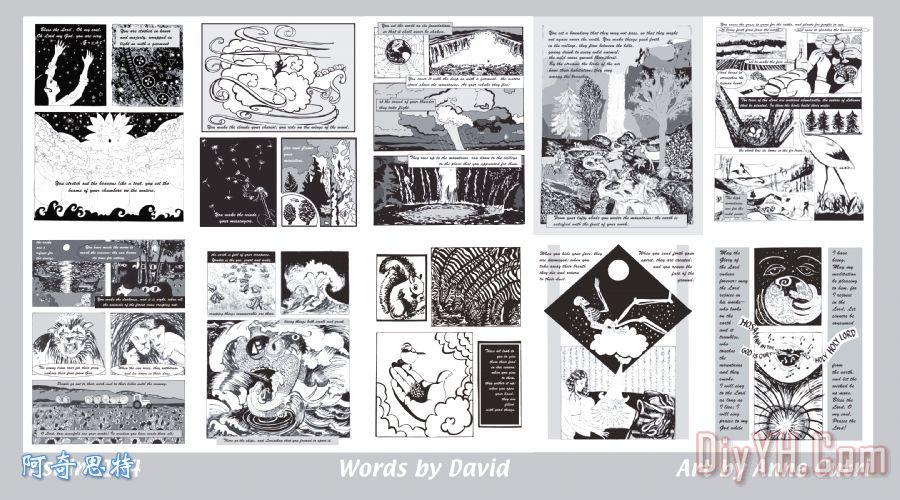 诗篇104篇的漫画风格 诗篇104篇的漫画风格装饰画