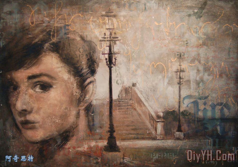 这条街装饰画_风景_肖像画_街道_城市景观_这条街油画